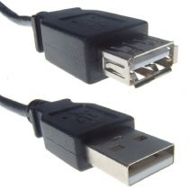 USB 2.0 Black Type A Extension Cable Male To Female 1.8m